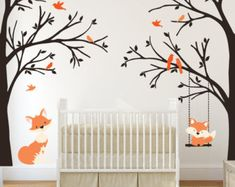 tree corner wall sticker – Etsy