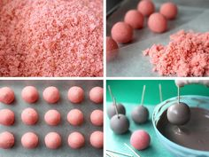 Cake ball bunny bums make an easy Easter treat.