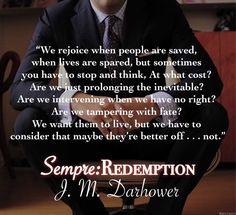 Sempre: Redemption by J. Good Books, My Books, Inevitable, When Us, Book Quotes, Death, Author, How To Plan, Reading