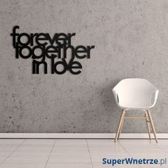 Napis na ścianę DekoSign FOREVER TOGETHER IN LOVE czarny FTIL1-1