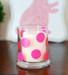 karnival deko haus windlichter rosa punktchen kleben
