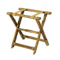 Bamboo Rattan Luggage Rack