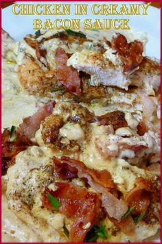 This is a recipe that is a very easy skillet dish for super yummy chicken cutlets. The Creamy Bacon Sauce for this chicken is so good that I'm trying very hard to think what else I can use it for. ~ Jen #skilletchicken #keto #glutenfree #chickendinner #bacon #chickenbaconcreamsauce #chickenbreasts Low Carb Chicken Recipes, Beef Recipes, Low Carb Recipes, Cooking Recipes, Healthy Recipes, Keto Chicken, Chicken Meals, Healthy Breakfasts, What's Cooking