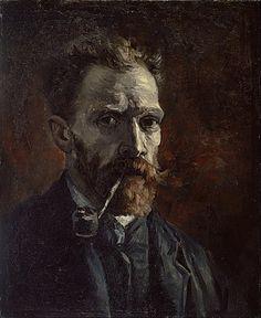 Vincent van Gogh - Self-portrait with pipe - Google Art Project.jpg