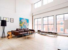 Loft in Tribeca, New York. Living room.