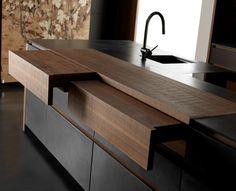 Кухонный гарнитур WIND ETA NOIR CEMENT Коллекция Wind by TONCELLI CUCINE | дизайн Federica Toncelli