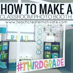 Blog post is UP! 🤗 step by step how to make your own photo booth for your classroom! I even included photo booth letters and speech bubbles for your first day of school! // link in profile!