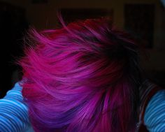 magenta. I want this hair...don't think it would go over well at the office though...