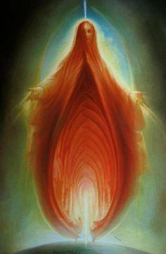 Psychopomp-doorway, woman, mystical, 'she' by peter van stratten Arte Peculiar, Beautiful Meaning, Foto Fun, Exotic Art, Prophetic Art, Sacred Feminine, Feminist Art, Arte Pop, Visionary Art
