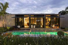 Piscina | Jardim com piscina | casa com piscina | casa pré fabricada | Pool | CLS Arquitetura _ Casa Cor Minas 2016 _Hemerson Gomes