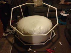 DIY PVC newborn octagon background/backdrop stand. Props