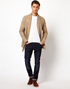 Asos Cardigan In Textured Yarn