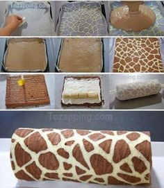 Funny pictures about Fantastic Giraffe Swiss Roll. Oh, and cool pics about Fantastic Giraffe Swiss Roll. Also, Fantastic Giraffe Swiss Roll. Food Cakes, Cupcake Cakes, Baking Recipes, Cake Recipes, Dessert Recipes, Giraffe Cakes, Zebra Cakes, Cute Desserts, Rolls Recipe