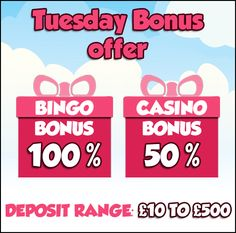 We hope your #Tuesday is going well and if it isn't, then come make a quick deposit with us and get additional #bonuses.   Come, sit back, relax and play all your favorite #bingo and #casino games on #GameVillage  Visit  https://www.gamevillage.com   For Bonus & Withdrawal Rules visit https://www.gamevillage.com/terms-and-conditions
