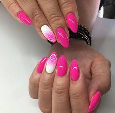 Pink Gel Nails, Pink Nail Art, Gel Nail Colors, Nail Manicure, Acrylic Nails, Fabulous Nails, Gorgeous Nails, Pretty Nails, Elegant Nails