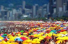Colored sun Umbrellas