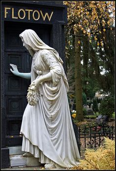 The wonderful and touching memorial and grave of the German opera composer Friedrich von Flotow at the Alter Friedhof (Old Cemetery) in Darmstadt, Germany.