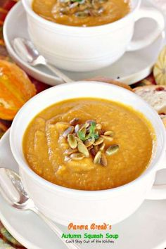 Panera Bread's Autumn Squash Soup - Can't Stay Out of the Kitchen