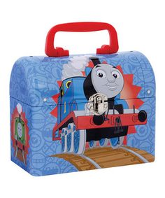 Little adventurers tote all of their chugging choo-choos in this charming keepsake. Constructed from durable materials and featuring a convenient handle and Thomas the Tank Engine graphics, it's the best storage solution to a locomotive-littered floor.