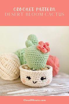 Crochet Bunny Pattern, Crochet Amigurumi Free Patterns, Crochet Flower Patterns, Cute Crochet, Crochet Designs, Crochet Flowers, Knit Crochet, Crochet Home, Crochet Gifts