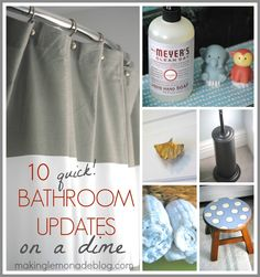Proving that small things make a BIG difference-- 10 quick bathroom updates that will change your entire room on a dime! #homedecor #bathrooms