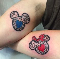 disney couple tattoos - Google Search