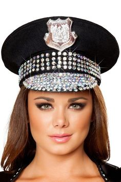 3wishes.com - Studded Police Hat, $54.95 (http://www.3wishes.com/accessories/hats/studded-police-hat/)