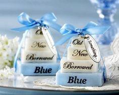 something blue bridal shower bridal shower soap party favors something blue wedding superstitions soap