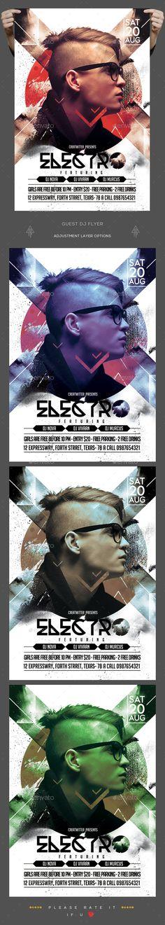 Guest Dj Flyer — Photoshop PSD #artist #concert • Download ➝ https://graphicriver.net/item/guest-dj-flyer/19564428?ref=pxcr