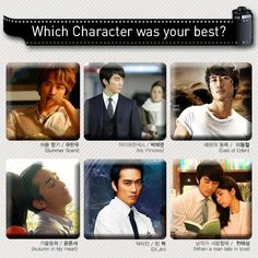 Characters of Song Seung Heon