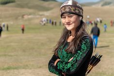 Ayana Rustam, 16, from Kyrgyzstan, the youngest female archer at the World Nomad Games Around The Worlds, Archery, Character Design, Field Archery, Character Design References