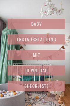 Hurra, das Baby ist bald da! Was es alles für die Erstausstattung braucht und worauf getrost verzichtet werden kann, lest ihr jetzt auf dem Blog inklusive Checkliste zum Downloaden. #babyerstausstattung #babyzimmer #baby #babyzimmerdeko #babystuff #kinderzimmer #kinderzimmerinspo #kidsroom #babyroom #nursery #nurserydekor #interiors Mama Mia, Hotel Mama, Interior S, Blog, Home Decor, Creative Ideas, Deko, Nice Asses, Interior Design