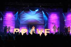 Citylife Media from Citylife Church in Tampa, FL brings us these giant glowing letters |  Church Stage Design Ideas