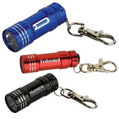 Promotional Junction metal flashlight with key tags will allow you to light up your customer's lives and your brand logo. Try Now!   #CustomKeytagFlashlights  #PromotionalItems #Branding