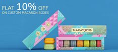 Order now and get flat 10% discount on your custom macaron boxes. book your order at 888-851-0765 or get a free custom quote. Custom Packaging, Box Packaging, Macaron Boxes, Custom Boxes, Macarons, Quote, Flat, Book, Prints