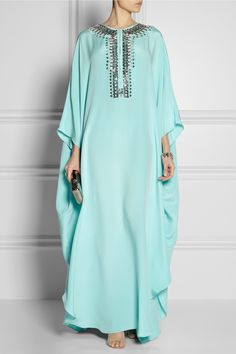 Emilio Pucci Embellished silk-cady kaftan-style gown NET-A-PORTER.COM