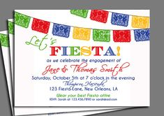 Fiesta Party Invitation Printable  Birthday by ThatPartyChick, $15.00