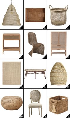 Architectural Digest Wicker and woven furniture is popping up everywhere. It is one of those home decor options that will really never go out of style, Architectural Digest, Devil, Donald Trump, Wicker, Texture, Chair, Architecture, Bottle, Interior