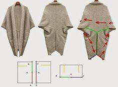 Nella valigia della Buru: DIY: cardigan con tre rettangoli di stoffa