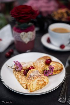 Herz Pancakes_8589 Food Blogs, International Recipes, Snacks, Creative Food, Easy Peasy, Coffee Time, French Toast, Good Food, Favorite Recipes