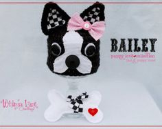 Ravelry: Bouncing Boston Terrier Hat pattern by Whimsical