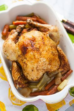 Whole Chicken in a Slow Cooker Recipe from @TheLittleKitchn | Julie | Julie | Julie