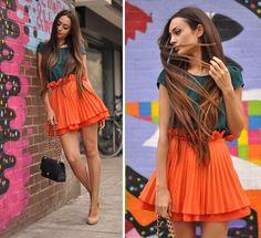 skirt & hair