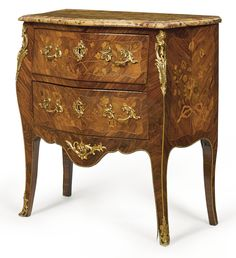 A Louis XV ormolu-mounted kingwood and marquetry commode mid-18th century, stamped M. Ohneberg Martin Ohneberg, maître in 1773