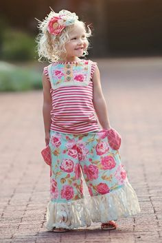 Persnickety Pocket Full of Posies Lou Lou Tank Top 2 Years ONLY (Girls Toddler Clothing). Persnickety Pocket Full of Posies Lou Lou Tank Top Little Girl Fashion, Kids Fashion, Summer Outfits 2017, 2017 Summer, Summer Set, Wholesale Children's Boutique Clothing, Persnickety Clothing, Remake Clothes, Girls Boutique