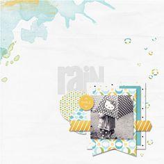 ☆☆☆ Credits ☆☆☆ Par Franny  Photo du 15 Juillet 2012  Scraplift d'une page de Jenny  ☆Crazy frogs | Kit de Chouk77  « Rain » from ☆Roycroft | Collection de Karla Dudley