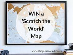 Win a 'Scratch the World' Map