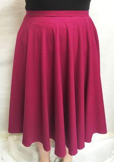 Alison Glass Knit Midi Length Circle Skirt