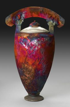 Tall Arc ~ Raku Vessels