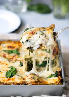 Green Goddess Lasagna fit for the goddess in all of us. Packed with veggies, goat cheese, and fresh basil.